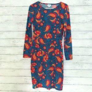LuLaRoe Turquoise Pasiley Debbie dress size S